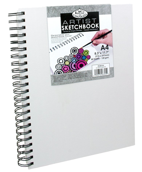 Royal & Langnickel Canvas sketch book - A4, 80 lap