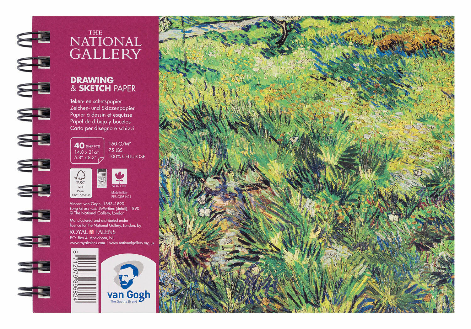 Van Gogh The National Gallery rajzpapír tömb A5, 160g, 40 lap
