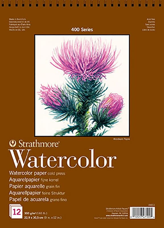 Strathmore Watercolor  paper block 30,5x22,9cm 300g 15 lap
