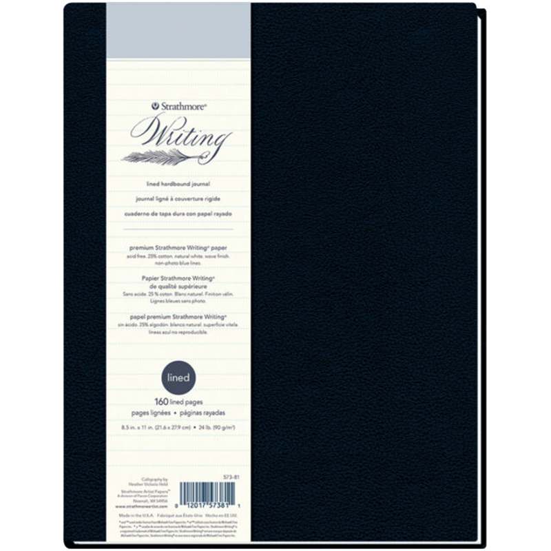 Strathmore Writing lined hardbound journal 21,6x27,9cm 90g 160lap