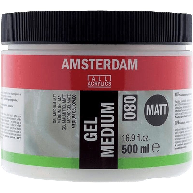 Amsterdam gél médium matt 080 - 500 ml